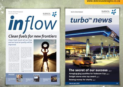 Turbo News for Sasol: Publication Design & Layout