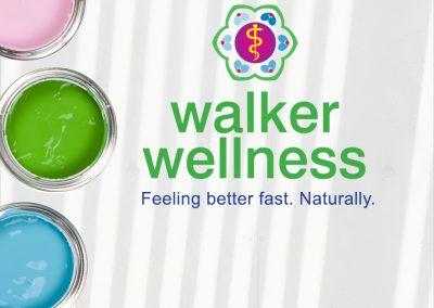 Walker Wellness logo design