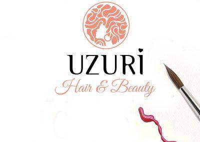 Uzuri Hair & Beauty Logo Design